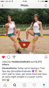 Influencers The West Twins at Moddershall Oaks Country Spa Resort